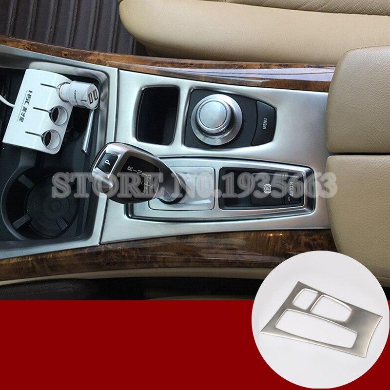 Pour BMW X5 X6 E70 E71 Console centrale intérieure boîte de vitesses panneau couvercle garniture 2008-2009 1 pièces