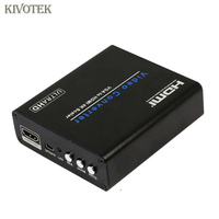 PC VGA to HDMI4Kx2K Adapter Scaler Converter Female Connector Power Supply For PC Laptop Computer HDTV Accessories Free Shipping