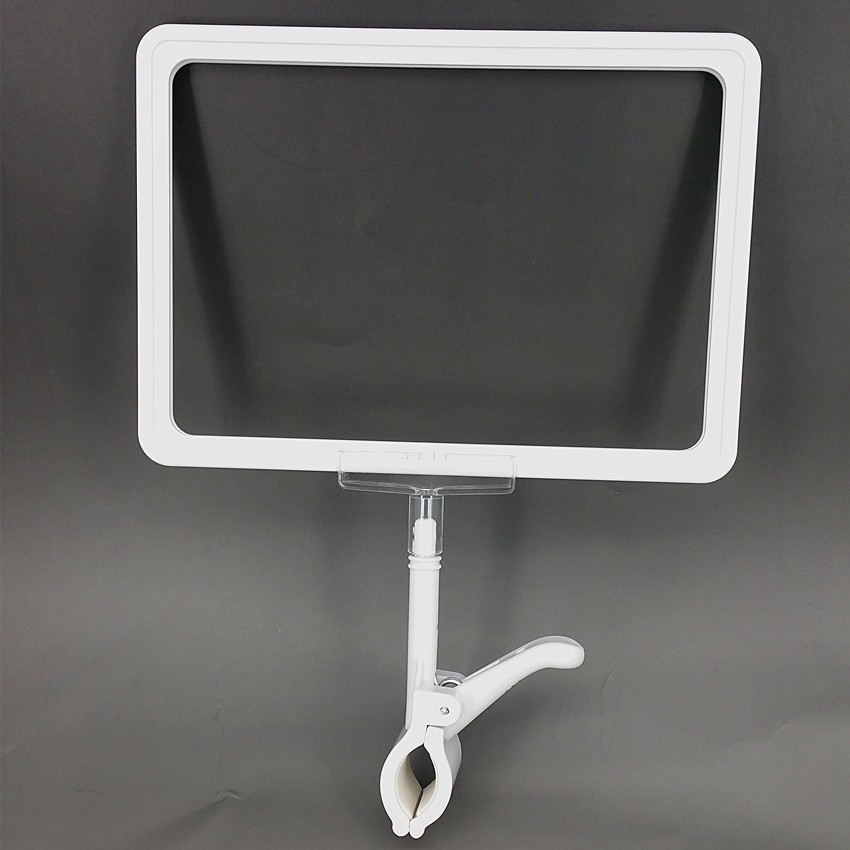 POP Plastic Signs Price Paper ABS Frame A4&A5&A6 Clip Holders Color Available For Supermarket Retail Promotion Display 5 Sets