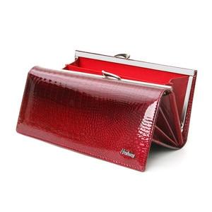 Image 1 - Billetera de piel auténtica de cocodrilo para mujer, billetera de mano larga, de cuero de vaca, de diseñador famoso