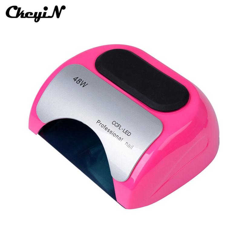 ФОТО NEW Automatic Sensor 48W CCFL Led UV Lamp Gel Nail Dryer Fast Drying Nail Art Machine UV Gel Curing Lamp Tube Light Nail Dryer