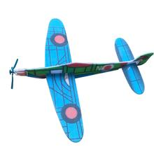 DIY Assembled Aircraft Model Hand-Made Material Foam Hand Throwing Aircraft Technology Small Invention Children Toy Random Color 1 pcs pull back gliding aircraft mini diecasts model aircraft rotate propeller toy for children random color 4 style bei jess