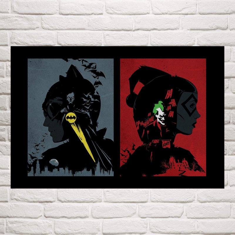 Poison Ivy Harley Quinn Catwoman Superheroes Comic Silk Poster 12x18 20x30 inch