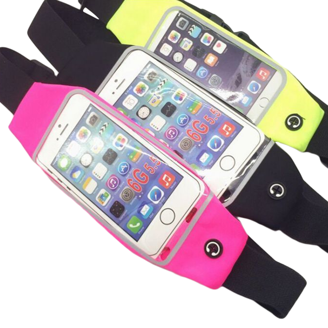 Etmakit Universal Sport Accessories Gym Waterproof Waist Bag Belt Pouch Mobile Phone Case For iPhone 6 6s 6Plus 5 5s 5c SE 4 4s in Phone Pouches from Cellphones Telecommunications