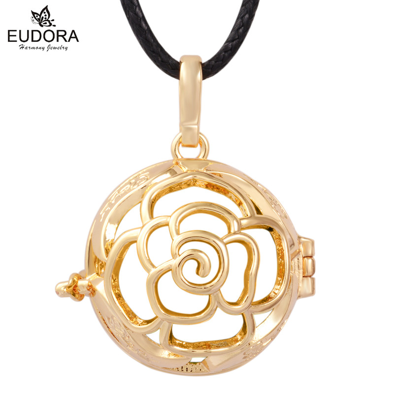 1PC Cage For 18/20MM Baby Caller Ball Flower Harmony Bola Pregnancy Pendant Belly Jewelry Gift Pendants & Necklaces H039