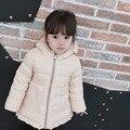 Niñas Simple invierno abajo chaqueta con capucha