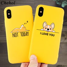 Corgi Fashion Mobile Phone Cases for iPhone  X XS MAX XR 6s 7 8 Plus Case Cute Dog Soft Silicone Fitted Back Cover Accessories