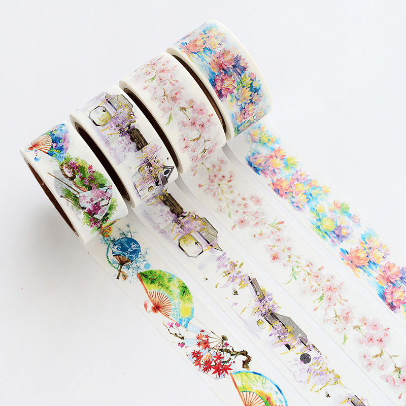 2 cm Wide Special Chinese Style Drawing Washi Tape Adhesive Tape DIY Scrapbooking Sticker Label Craft Masking Tape