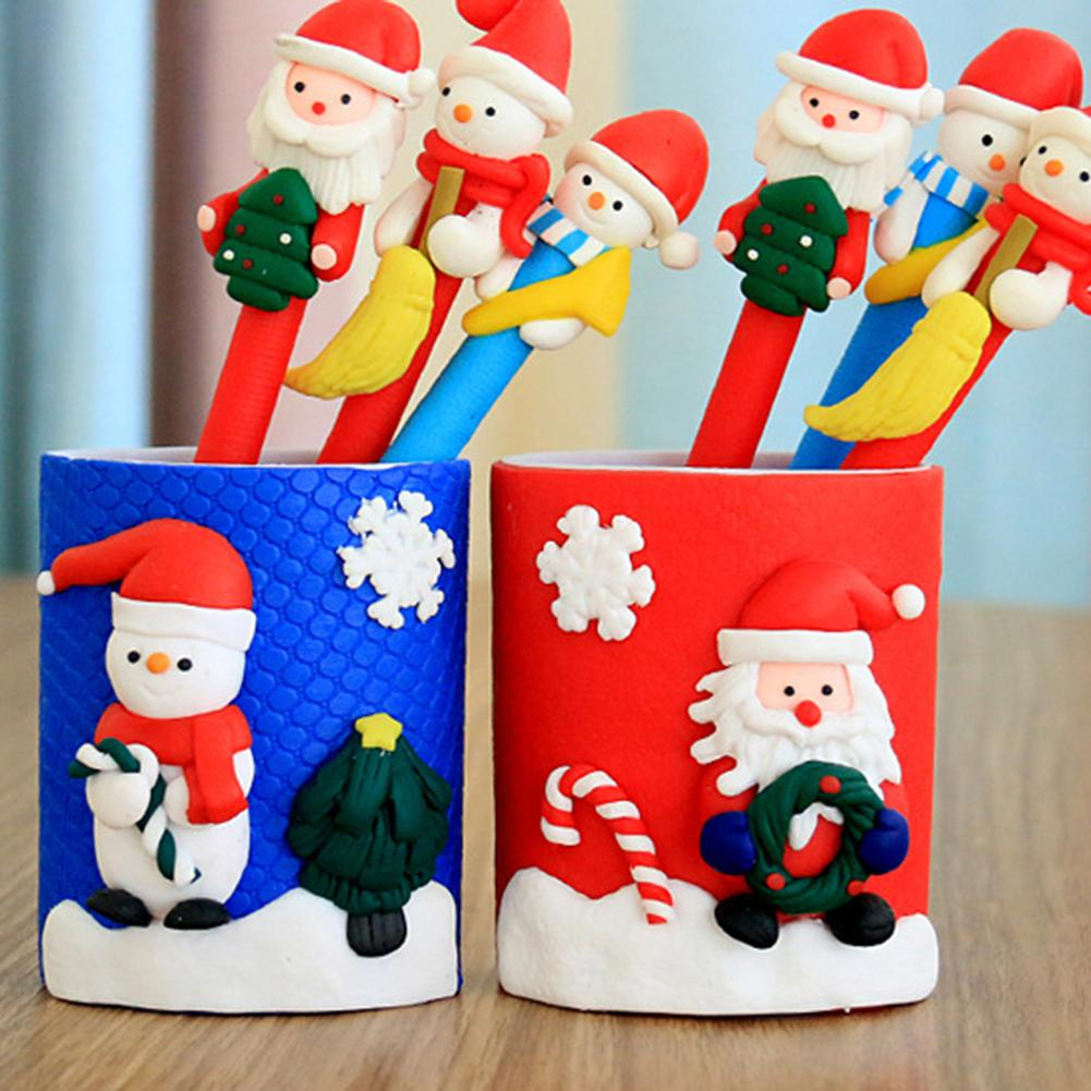 Nice Hot Christmas Ornament Pen Vase Pencil Container Party Xmas Table Desk Gift Decor Desk Accessories & Organizer Office & School Supplies