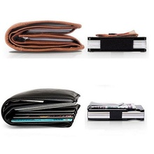 Hot Carbon Fiber Clip Ultra-Thin Metal Can Accommodate Multiple Debit and Credit Cards Wallet