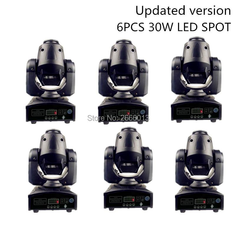 6pcs High Brightness 30W LED Pattrens Disco DJ Stage Light/30W Mini Gobo projector/LED Spot Moving Head Stage Effect Lighting