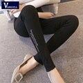 2016 Pantalones de Las Mujeres Pantalones Lápiz Delgado Nueva Marca OL Señoras Del Estilo sólido Flaco Mediados de Cintura Ocasional Pantalones XXL Más El Tamaño de La Venta Caliente