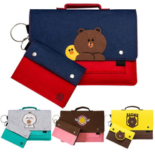 цена на Newest cute Brown Bear animal pattem Laptop case bag sleeve 11 12 13 14 15 15.6 inch For Laptop bag case for Macbook air pro 13