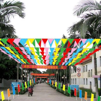 Красочные 80 м Флаг Вымпел баннеры гирлянда Гирлянда праздник Декор