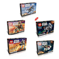 Star Wars Theme 5 styles Microfighters STAR WARS Building Blocks Compatible with Legos Bricks Model & Building Toys