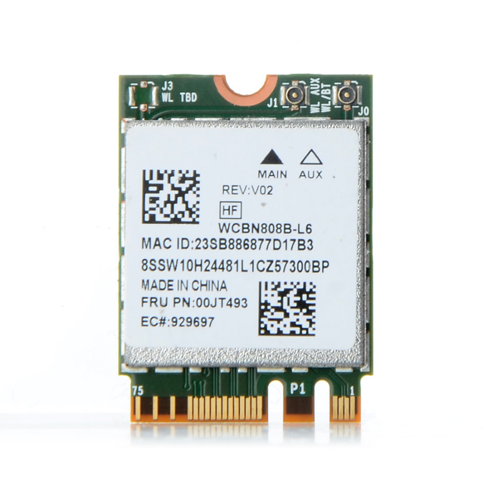 BCM94350ZAE Wireless AC NGFF 802 11ac 867M Wifi Bluetooth BT 4 1 Network  Wlan Card For Lenovo/IBM/Thinkpad S0P71 T61-in Network Cards from Computer  &