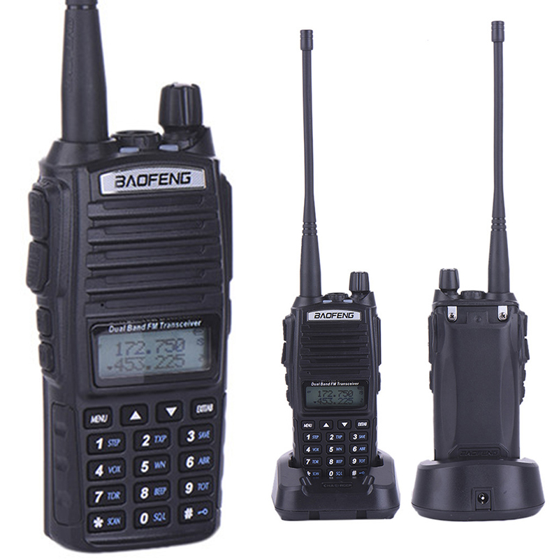 New Design Handheld Walkie Talkie BaoFeng Pofung UV 82 Dual Band 136 174MHz 400 520MHz with