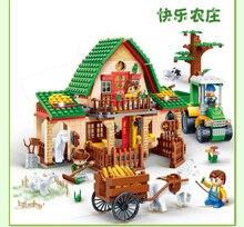 8579 541 Pcs Banbao Happy Farm אבן בניין צעצועי 8579 חקלאי ילדי מתנת צעצועים חינוכיים DIY לבנים תואם עם צעצועים