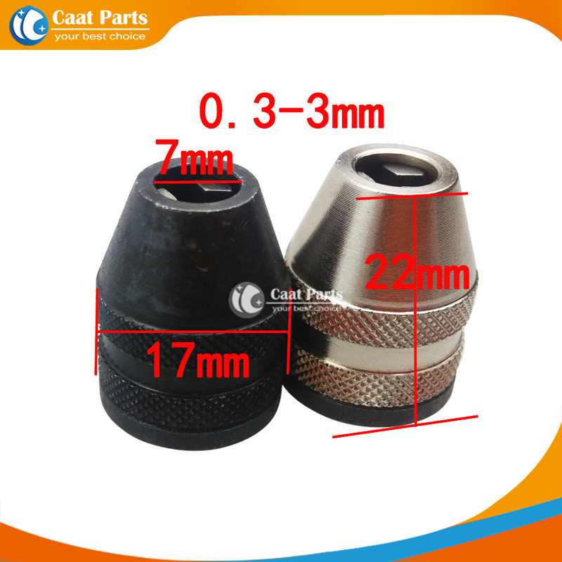 0.3-3mm Electric Drill Chuck Universal Multi Chuck For Dremel Rotary Tools Cut Grind Saw Metal Wood Quick Change Chuck 660v ui 10a ith 8 terminals rotary cam universal changeover combination switch