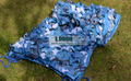 2.5M*8M filet camouflage netting blue camo netting for beach awning shading garden party decoration room decoration sunshade