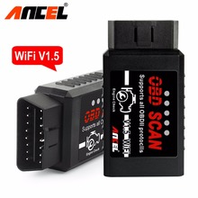 2017 Ancel Elm 327 V1.5 ELM327 Wifi Scanner Auto OBD2 Diagnostic Tool OBDII V 1.5 Wireless For Both Android Iphone ios