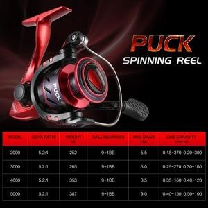 Image 2 - SeaKnight PUCK ARCHER Spinning Reel 4.9:1 5.2:1 Fishing Reel 13KG Max Drag Power Spinning Wheel Long Casting Fishing 2000 6000