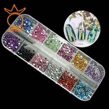 US $1.27 39% OFF|1 box 1.8mm Mixed Flatback Rhinestone Silver Back Non Hot Fix Resin Stones Small Beads All For Manicure Nail Art Gem-in Rhinestones from Home & Garden on Aliexpress.com | Alibaba Group