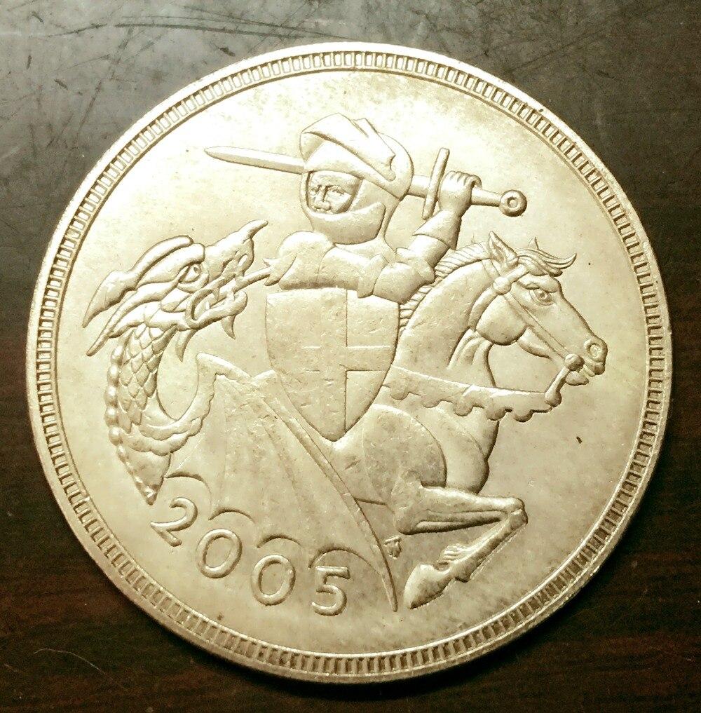 2005 United Kingdom 5 Pounds - Elizabeth II (4th portrait; Sovereign series) Gold Copy Coin