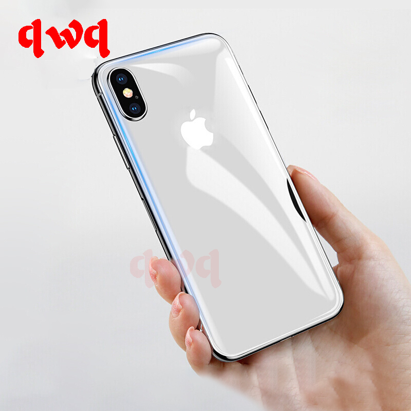 9H Rear Full Cover Tempered Glass For iPhone X Xs Max Xr X On The Back Hydrogel Film title=
