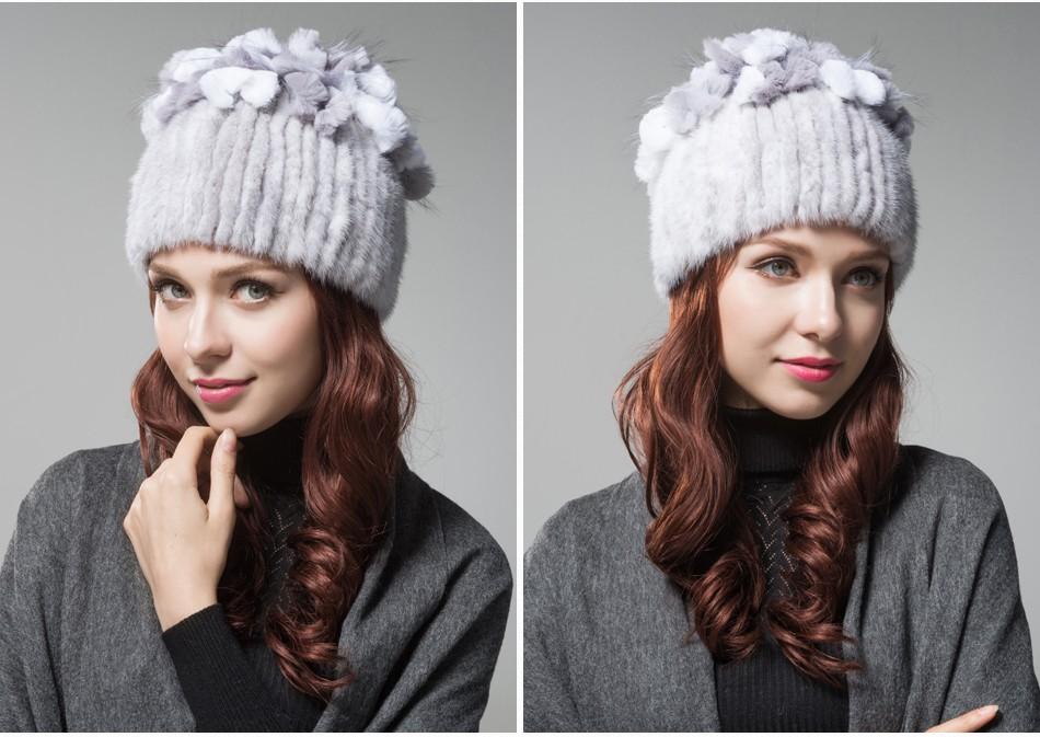 mink fur hats female winter PCM016 (12)