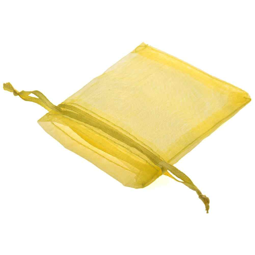 100pcs Organza Bags Jewelry Packaging Bags Wedding Party Decoration Jewelry Packaging Drawable Organza Bags Gift Pouch 6 Colors