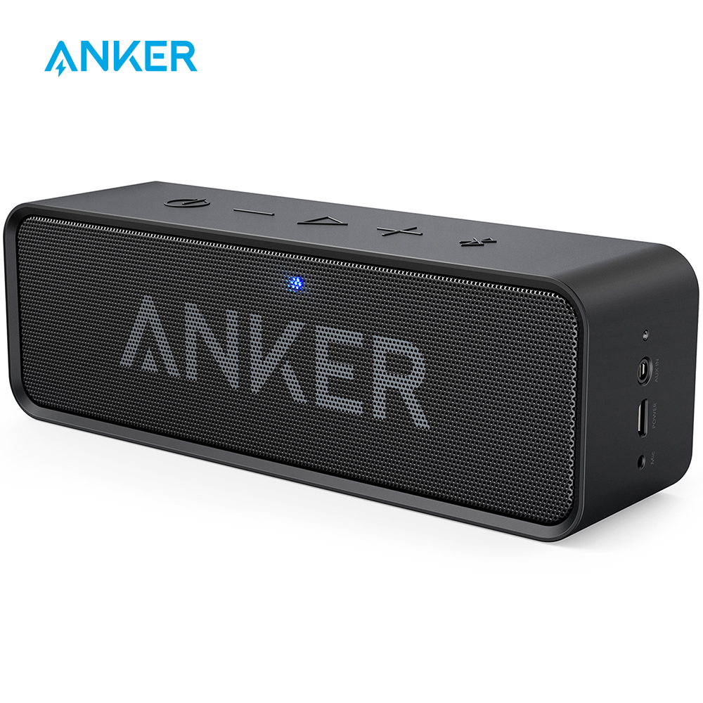 Anker SoundCore Portable Wireless Bluetooth Speaker with Dual Driver Rich Bass 24h Playtime 66 ft Bluetooth