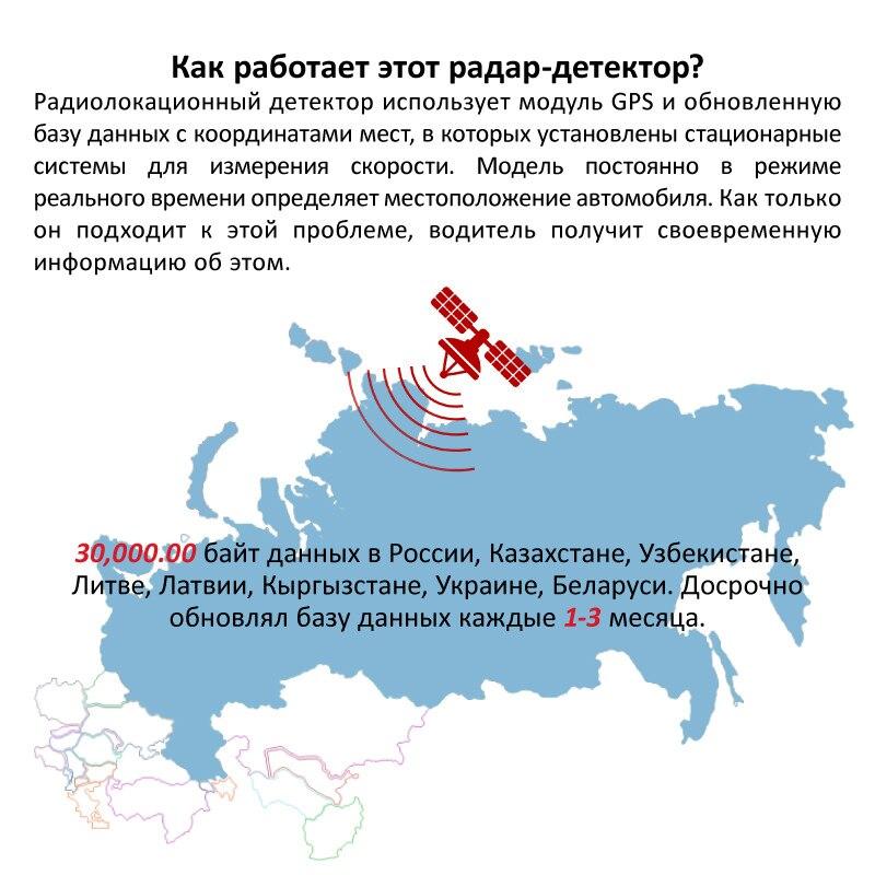 Ruccess STR S900 Détecteurs de Radar Led 2 dans 1 Radar Détecteur pour La Russie avec GPS Voiture Anti Radars Vitesse De La Police auto X CT K La - 4