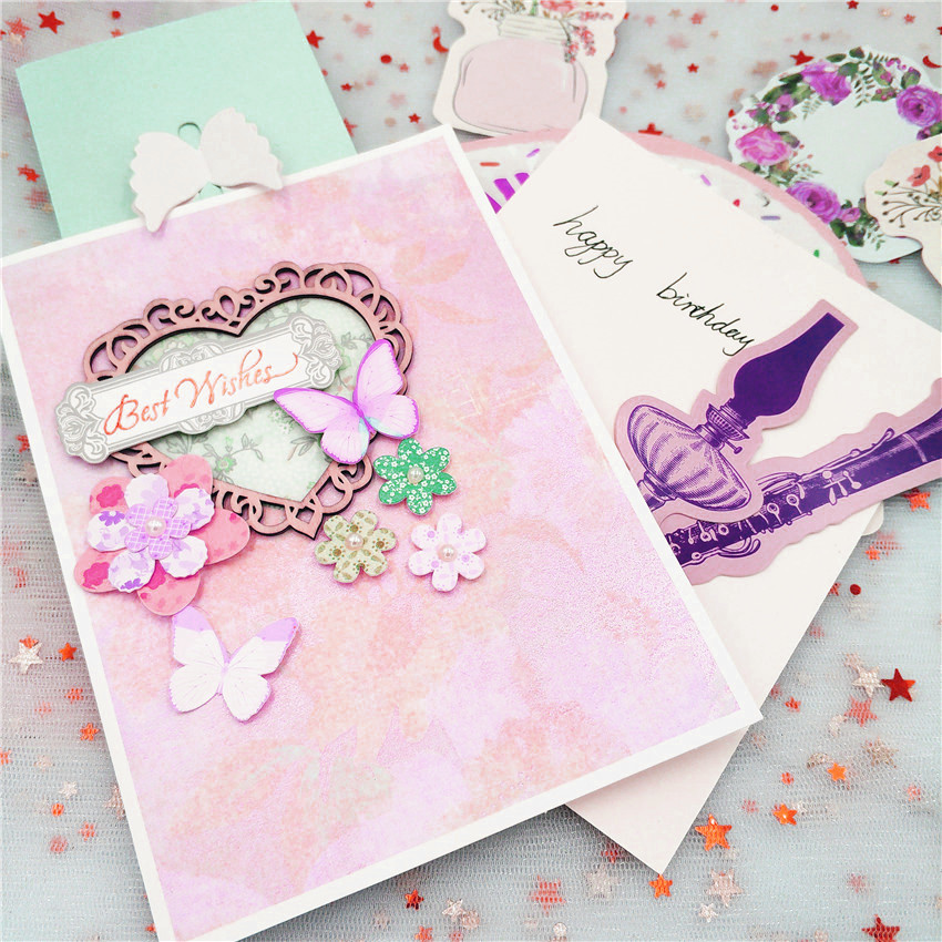 ZhuoAng Love frame Cutting mold DIY scrapbook album decoration supplies clear seal paper card