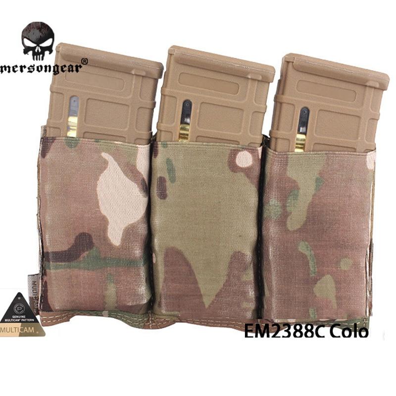 Emersongear Triple M4 Pouch FAST Magazine Molle Airsoft Wargame Gear Painball Equipment MAG EM2388 BK Coyote Brown SG MC