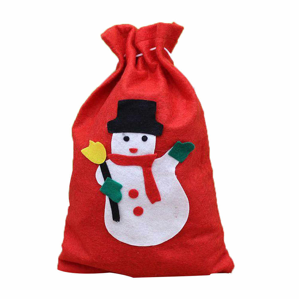 Personagem de desenho animado Impressão Saco de Presente de Natal Festival Casa Decoração Do Partido Saco Com Cordão Saco do Presente sacola bolsas feminina