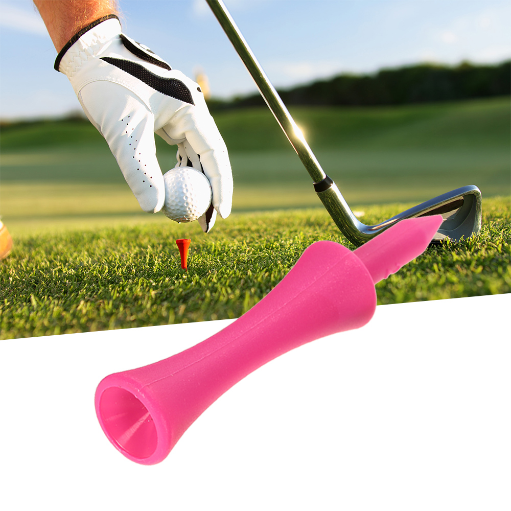 Image 4 - 100PCS Plastic Castle Step Grad Golf Ball Tees Golf Holder Golf Ball Stand-in Golf Training Aids from Sports & Entertainment