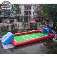 Играть Футбол в любое время и в любом месте надувные Футбол поле Портативный надувные Футбол суд герметичный Футбол Стрельба