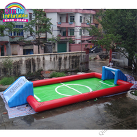 Play Football Anytime And Anywhere Inflatable Soccer Field Portable Inflatable Football Court Airtight Soccer Shooting