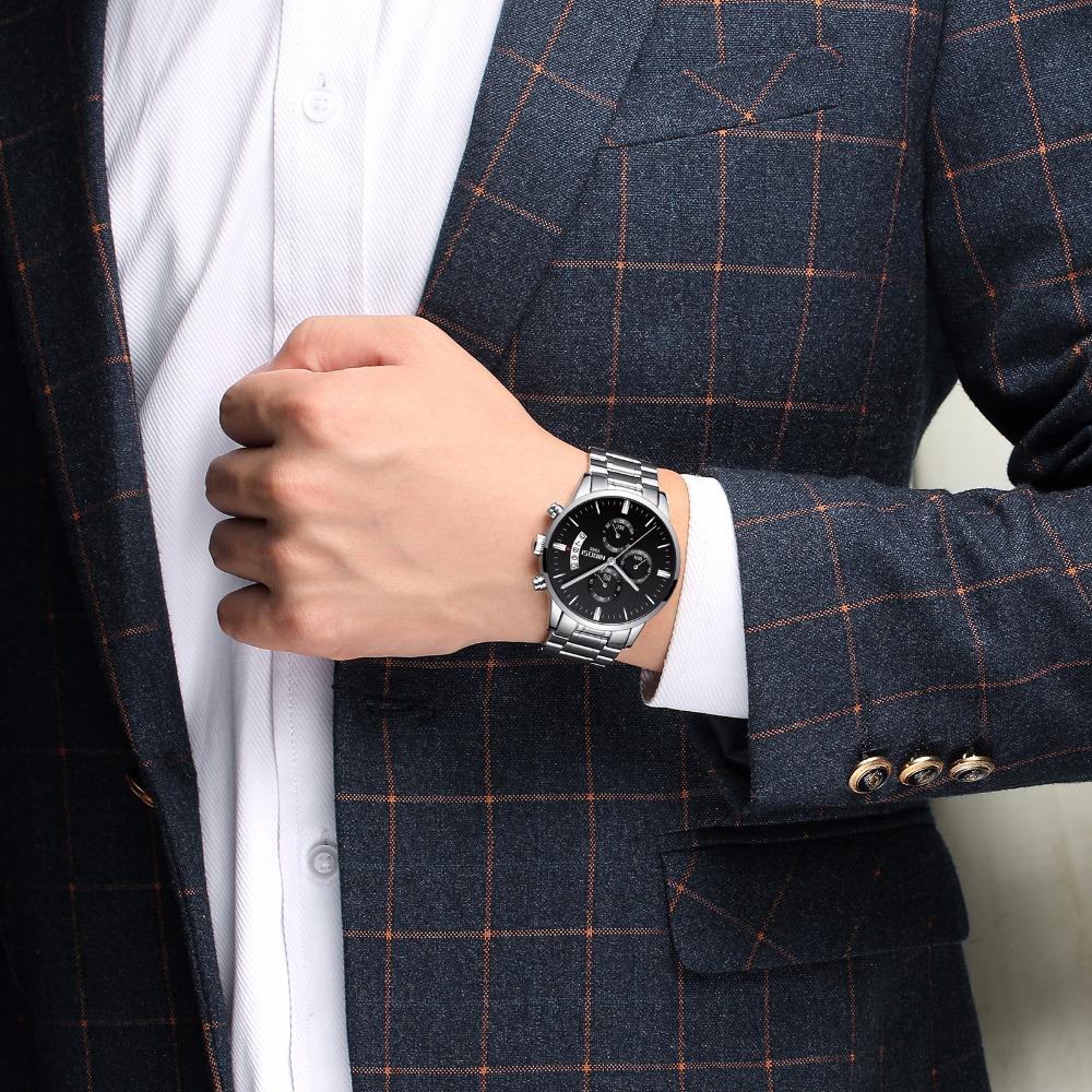 Relojes de hombre NIBOSI Relogio Masculino, relojes de pulsera de cuarzo de estilo informal de marca famosa de lujo para hombre, relojes de pulsera Saat 34