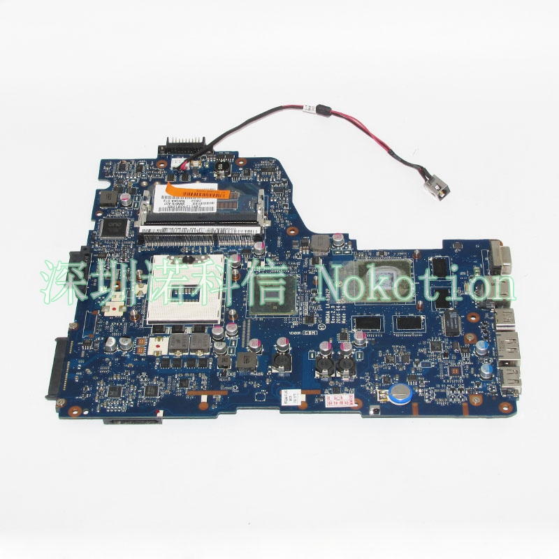NOKOTION Laptop Motherboard For Toshiba Satellite A660 A665 NWQAA LA-6062P K000104400 HM55 DDR3 GT330M Main Board full test nokotion genuine h000064160 main board for toshiba satellite nb15 nb15t laptop motherboard n2810 cpu ddr3