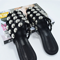[soonyour] 20016 new autumn summer Hollow out Nail black Flat Bottom Slipper women fashion tide HB00815