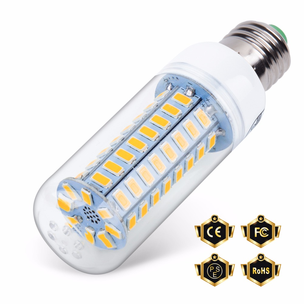 цены E27 Led Candle Lamp E14 AC 230V Corn Bulb SMD5730 24 36 48 56 69 72leds Lampada 220V Energy Saving Light Warm/White Bombillas