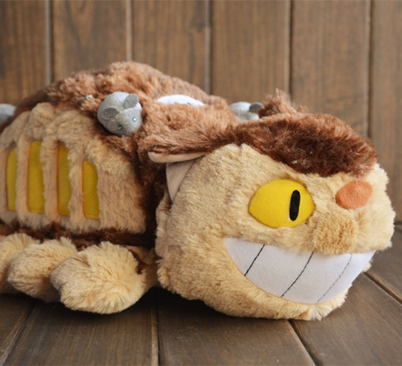 Original Totoro Big Cat Bus Miyazaki Hayao Ghibli Cute Stuffed Animal Plush Toy Doll Birthday Gift Children Boy Girl Gift new arrival rare big original 38cm bambi deer animal cute soft stuffed plush toy doll birthday gift children gift collection