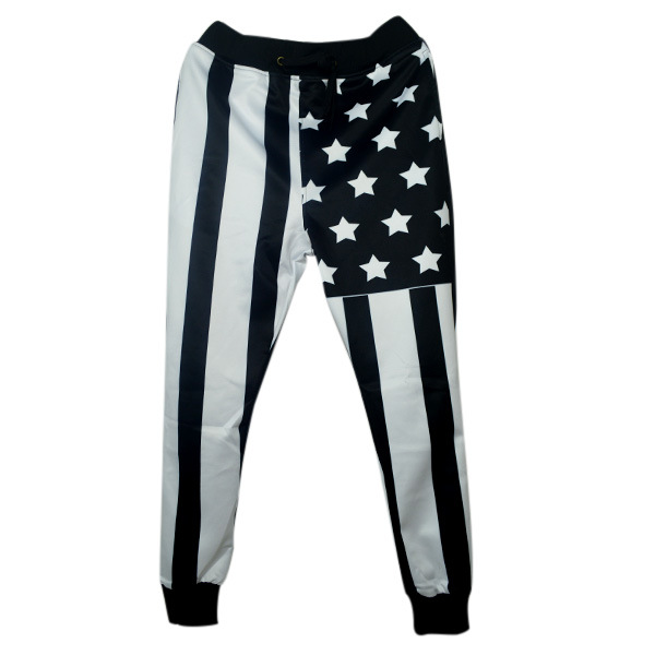 2016 New fashion Spring Summer mens Clothing Hip Hop Dance trousers Stars Stripes casual mens joggers