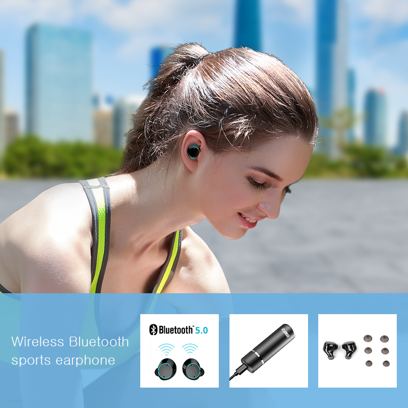 Mifa X1 Wireless Bluetooth Earbuds True Bluetooth 5.0 Earphone Twins Stereo  In-Ear TWS With Mic Portable Battery Storage Box