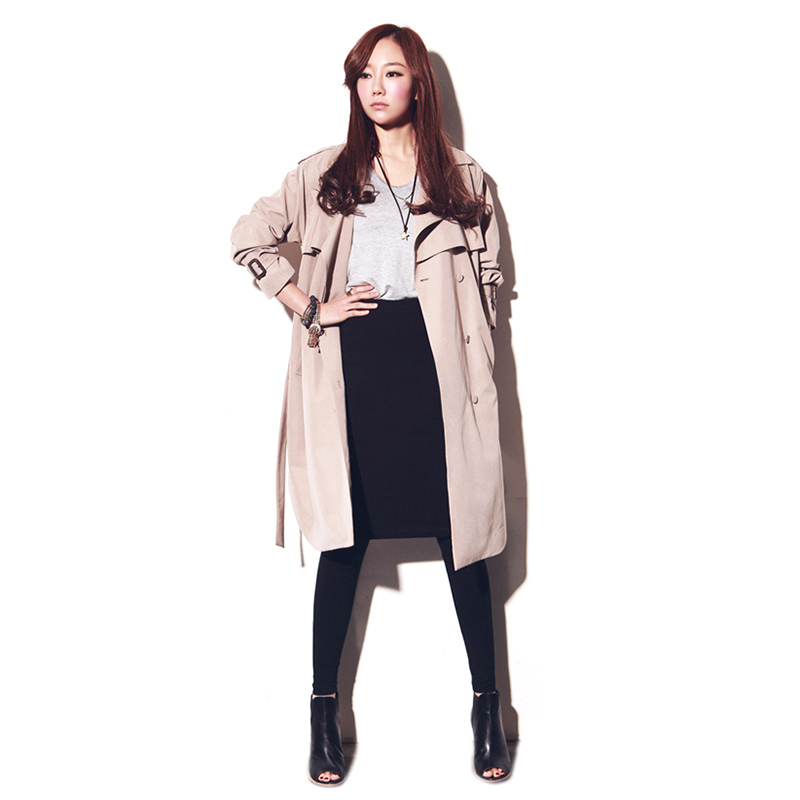 Outerwear Trench-Clothes Women's Loose Autumn Long Winter Fashion Casual for Lady Good-Quality