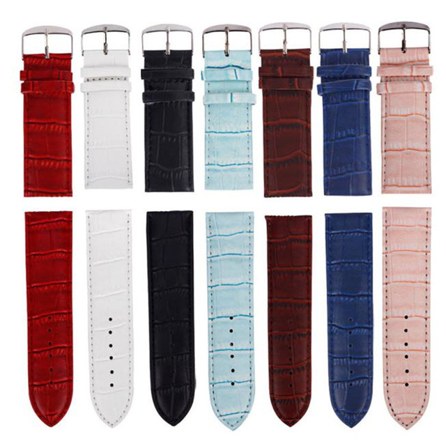 14mm,16mm,18mm,20mm,22mm,24mm,26mm High Quality Sweatband Bracelet Leather Strap
