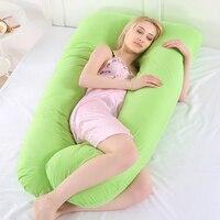 U-образная хлопковая Подушка для беременных и кормящих мульти-функциональный пояс боковой сон для увеличения подушки постельные принадлеж...