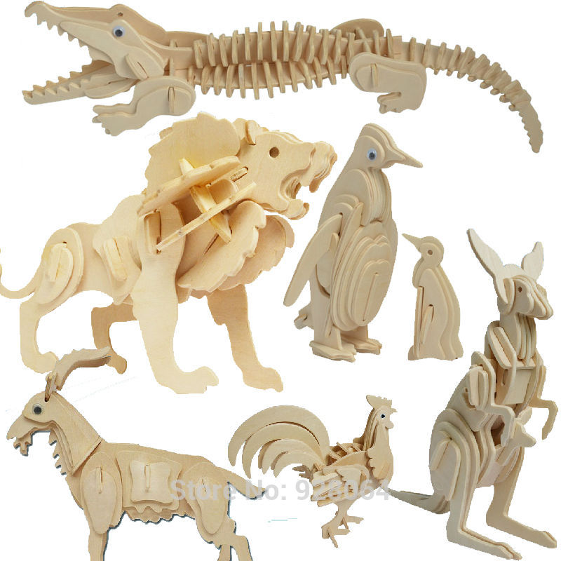 Many Animal 3d puzzle jigsaw Building Kids Puzzle Toy Learning Alphabet Puzzle Game for Preschool Kids baby toys for children hippopotamus animal series many chew toy